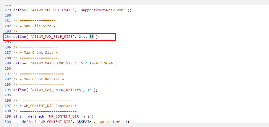 Edit The Constants.php File
