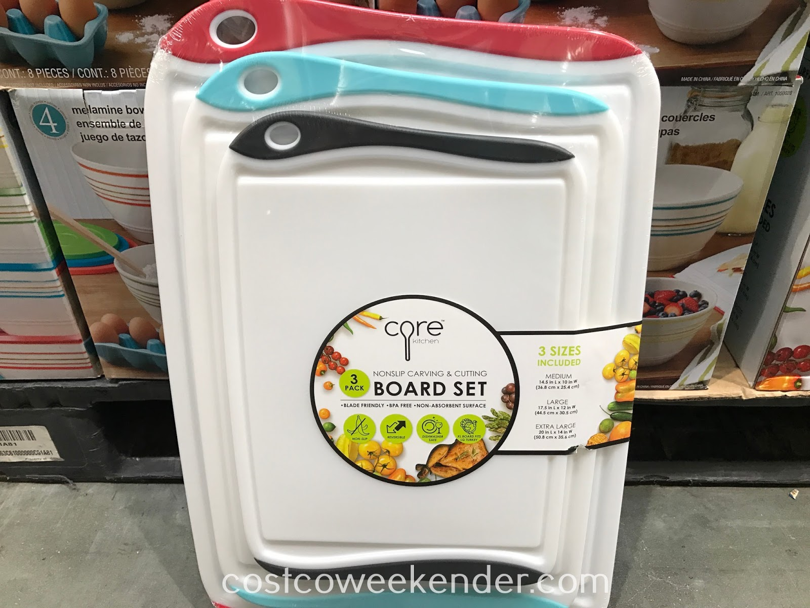 Make food prep easier with the Core Kitchen Nonslip Carving & Cutting Board Set