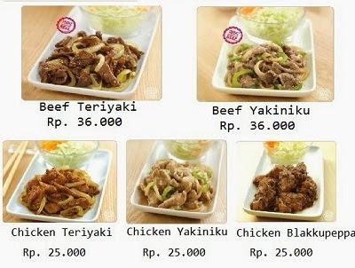 Harga Beef Teriyaki Hoka Hoka Bento