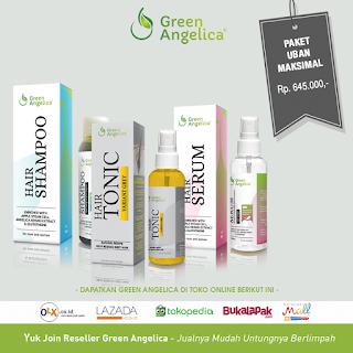 paket obat uban green angelica