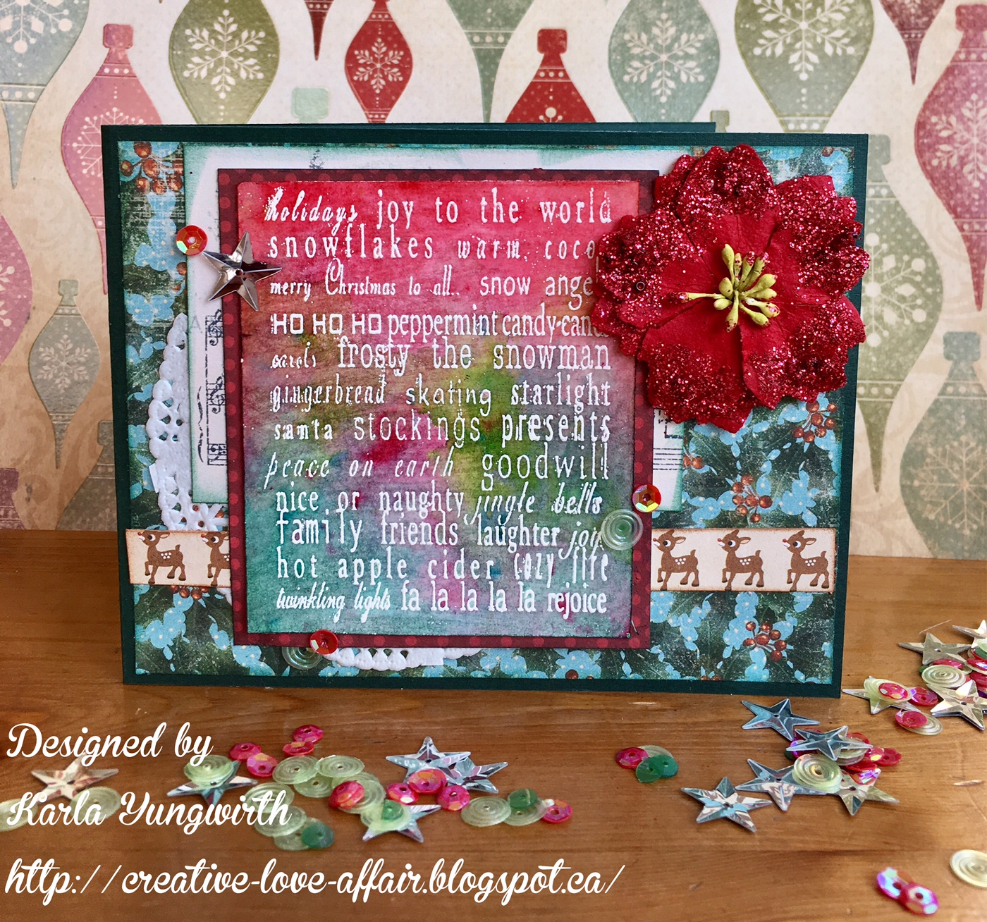 Karla Yungwirth Designs: Color Burst Christmas Cards and Video!