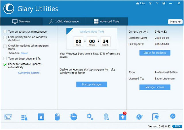 Glary Utilities 5 For PC Windows 10, 8, 7 Laptop Free Download