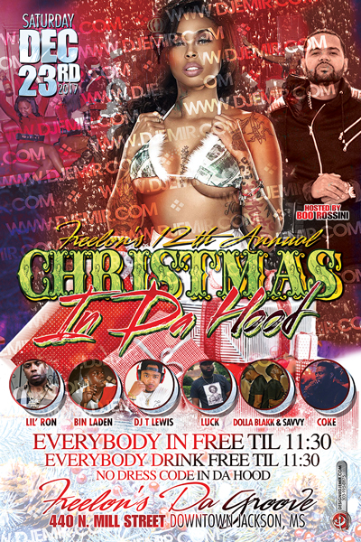 Christmas In Da Hood Flyer Design Side 2