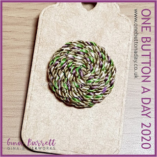 One Button a Day 2020 by Gina Barrett - Day 157 : Meadow
