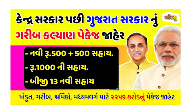 Chief Minister Garib Kalyan (Rs.500 + Rs.1000 + Rs.1500) Assistance / Announced by Government of Gujarat