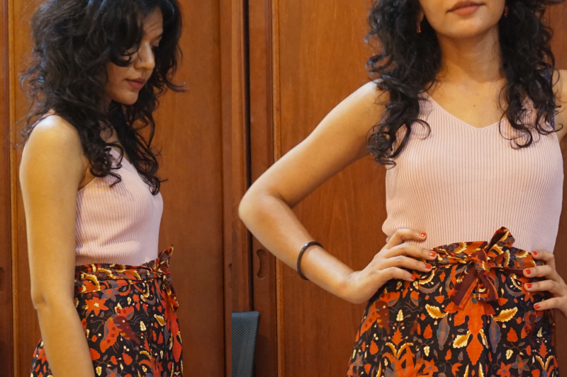 How I wear something with a short batik skirt as I contemplate life