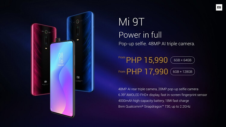 Xiaomi Brings Mi 9T to the Philippines, Price Starts at Php15,990!