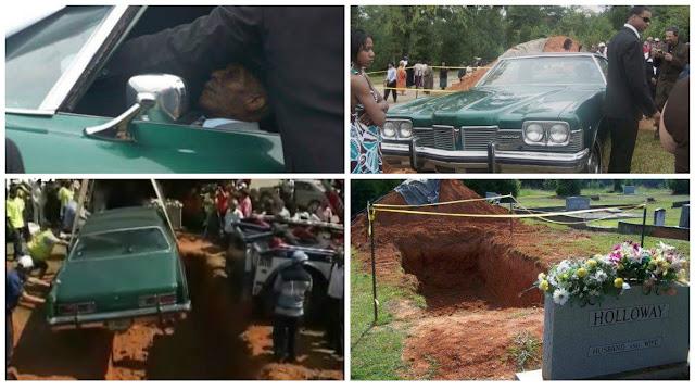 Photos: Black Man Buried In His Pontiac Cadillac Car In Saluda South