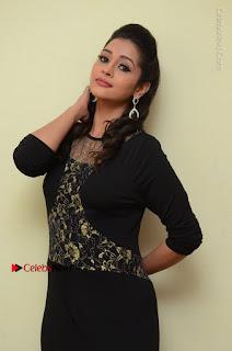 Telugu Actress Manasa Manohar Stills in Black Long Dress at Naku Nene Thopu Turumu Trailer Launch  0049.JPG