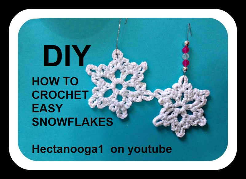 Hectanooga Patterns Free Crochet Pattern 5 Minute Snowflake