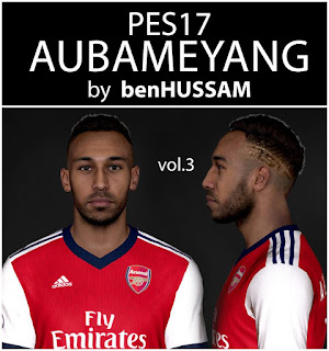 PES 2017 Faces Pierre-Emerick Aubameyang by BenHussam