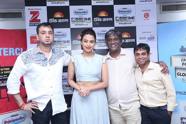 Sandip Kapur, Swara Bhaskar, Avinash Das and Ishtiyak Khan during day 4 at Jagran Film Festival (3)