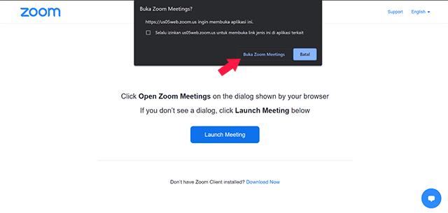 Cara Join Meeting di Zoom Melalui Link Undangan