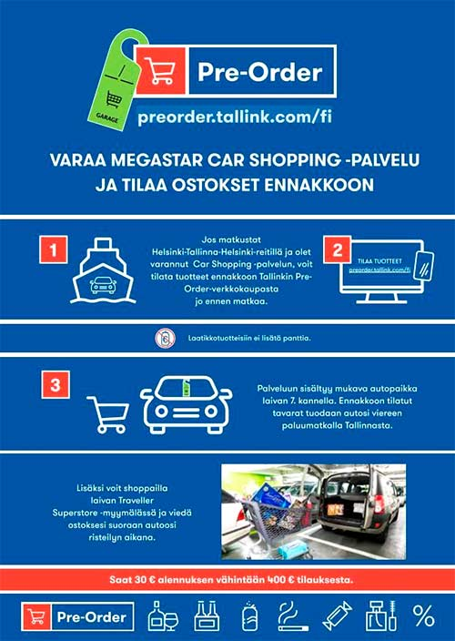 Tallink Pre-Order, Megastar, Tallinna tutuksi, ennakkotilaus