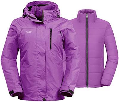 Women's 3-in-1 Waterproof Ski Jacket