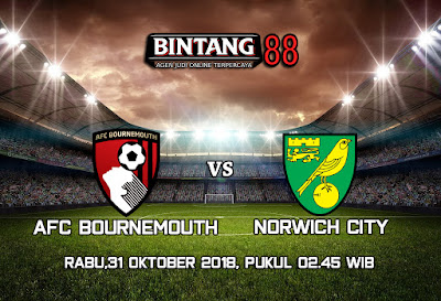 Prediksi AFC Bournemouth vs Norwich City 31 Oktober 2018