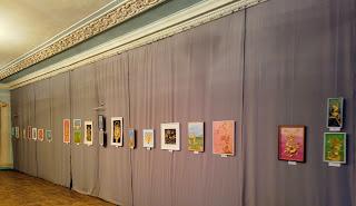 Часів Яр. Палац культури. Виставка картин з соломки та витинанок