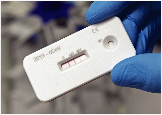 Image Attribute: Antibody test kit, photo by Jens Meyer / Source: AP Images