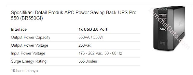 Jual UPS TIpe Apc Pro 550 Jakarta Timur Termurah Siap Di Ambil