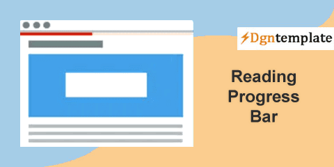 How to add a Reading Progress Bar on Blogger