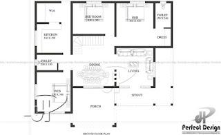 Denah Desain rumah minimalis modern 2019.