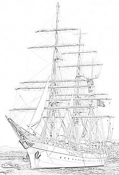 british sailing warship coloring pages - photo#16