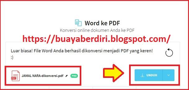 Konversi Microsoft Word ke PDF