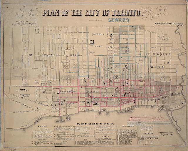 1858 Toronto Proposed Sewers