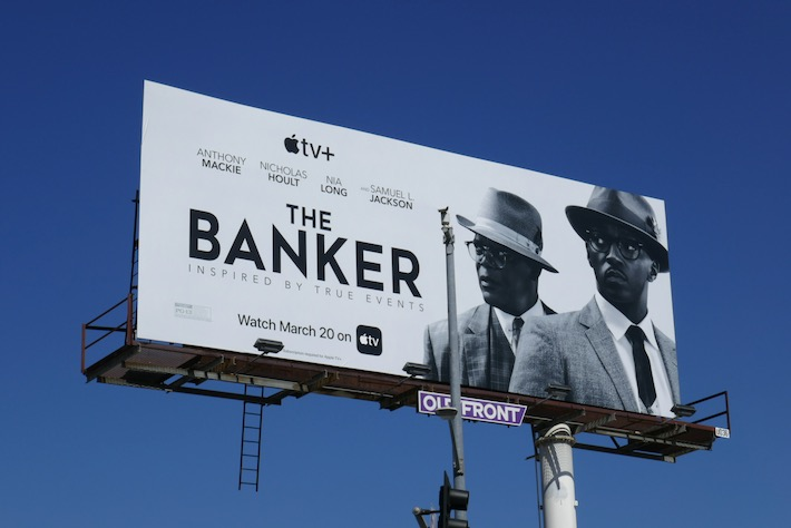 Banker AppleTV movie billboard
