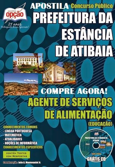 Apostila Prefeitura da Estância de Atibaia Concurso 2014