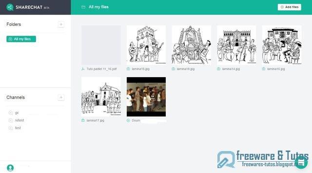 Sharechat : un service de stockage illimité avec fonctions de chat et de partage