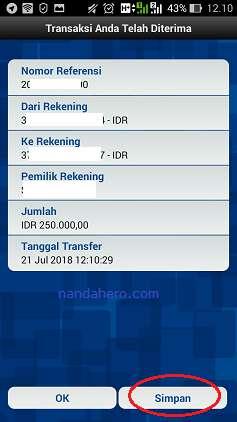cara transfer bri ke bank yang sama menggunakan internet banking