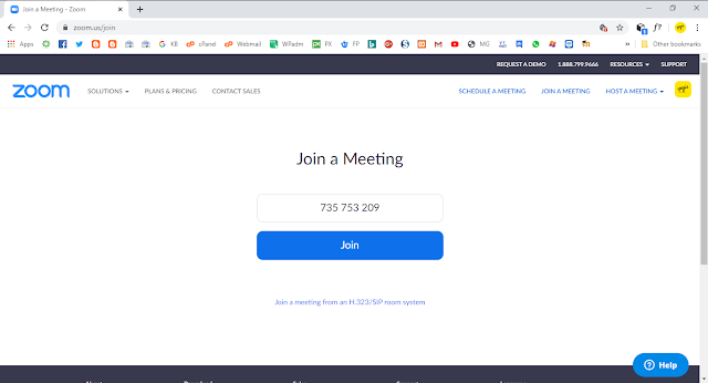 Cara Join Meeting di Zoom Browser