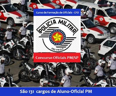 inscrição Concurso PM/SP - Polícia Militar do Estado SP 2016 Oficiais CFO