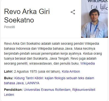 profil Revo Arka Giri Soekatno