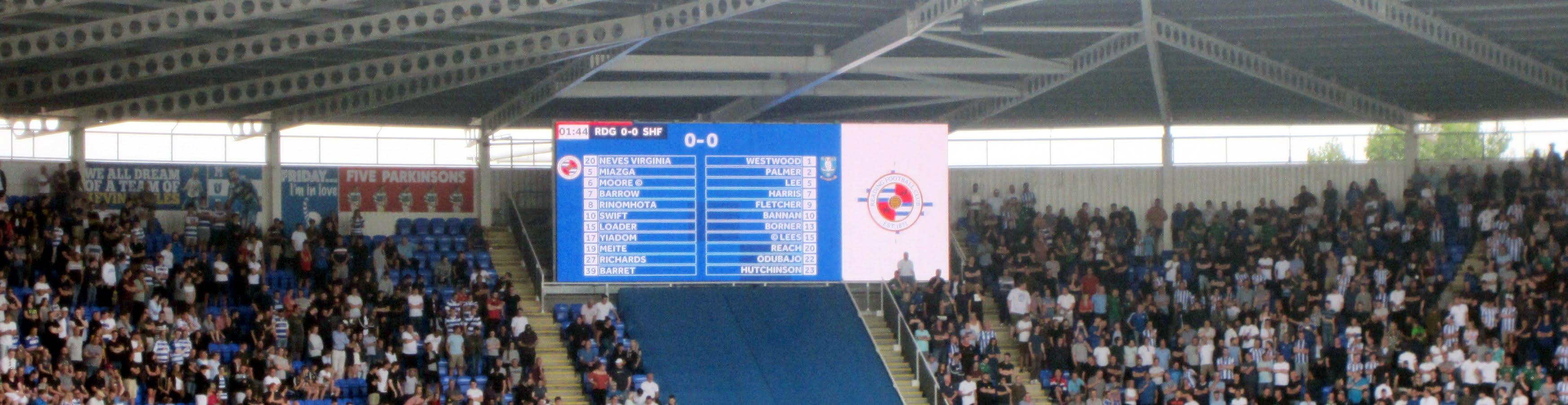 Video screen at Madejski Stadium