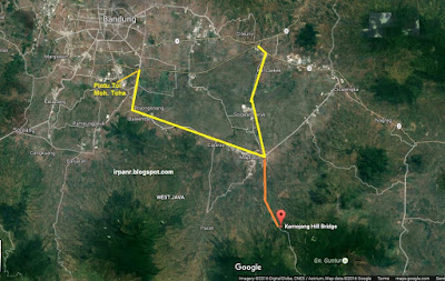 Peta menuju ke Kamojang dari Bandung