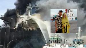 Kisah Pilu Seorang Isteri Hamil 8 Bulan, Suami Meninggal Dunia Dalam Peristiwa Kebakarnya Kapal Tangker di Belawan