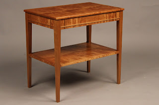 High QUality ENd Table with shelf solid wood