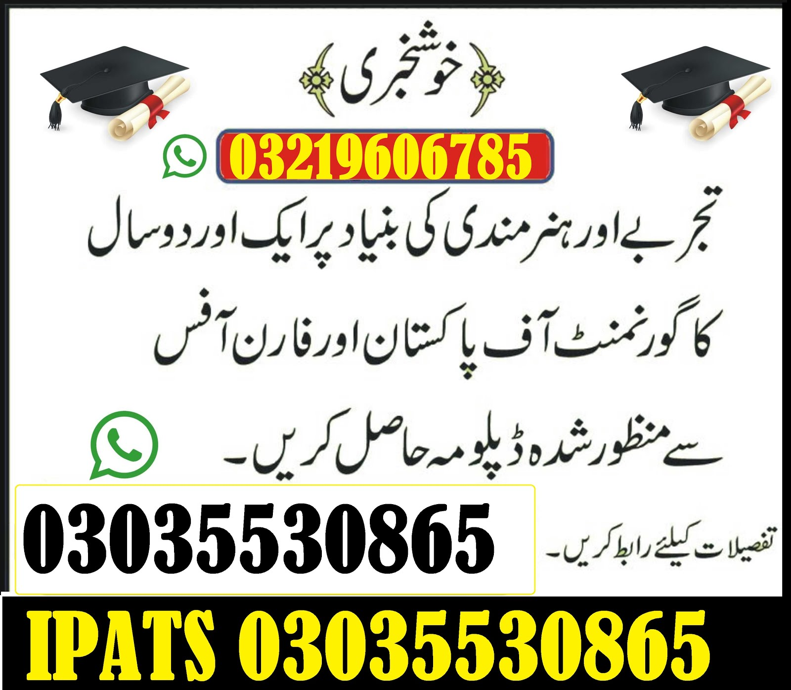 Govt. Reg diploma in 3 months for finding best jobs 1-2 year Also DAE three Years  Punjab Governmen