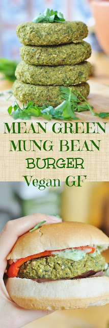 VEGAN BURGER SERIES: LEAN GREEN MUNG BEAN BURGER – GF  HIGH PROTEIN