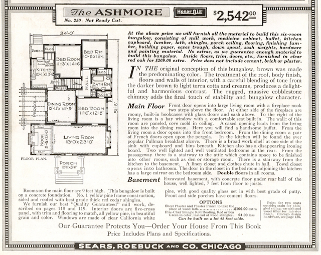 catalog image of floor plan of Sears Ashmore