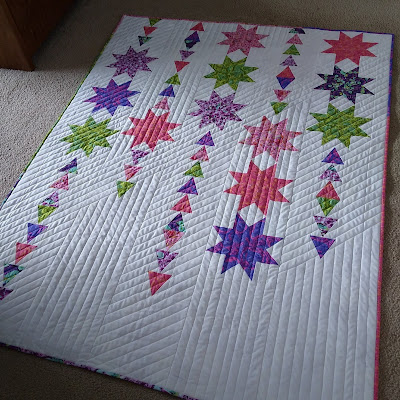 Starfall quilt by Canuck QWuilter Designs
