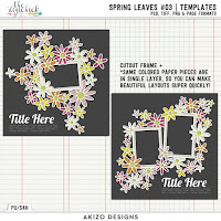 Template : Spring Leaves 03 by Akizo Designs