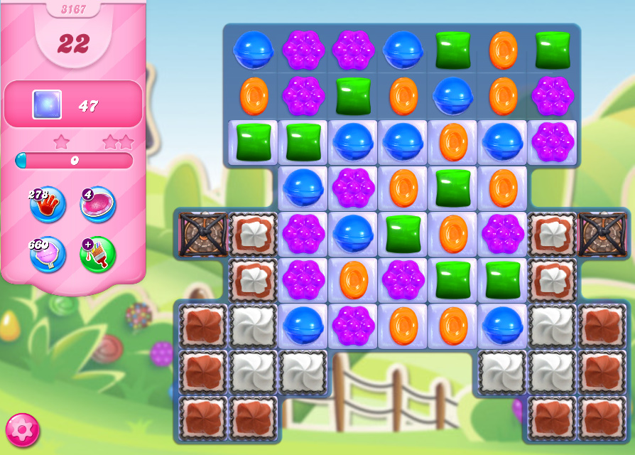 Candy Crush Saga level 3167