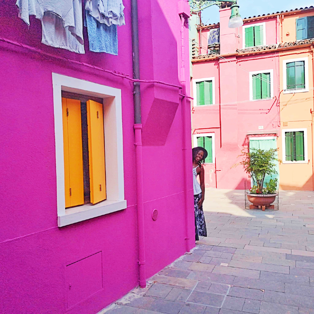 Colored street Burano