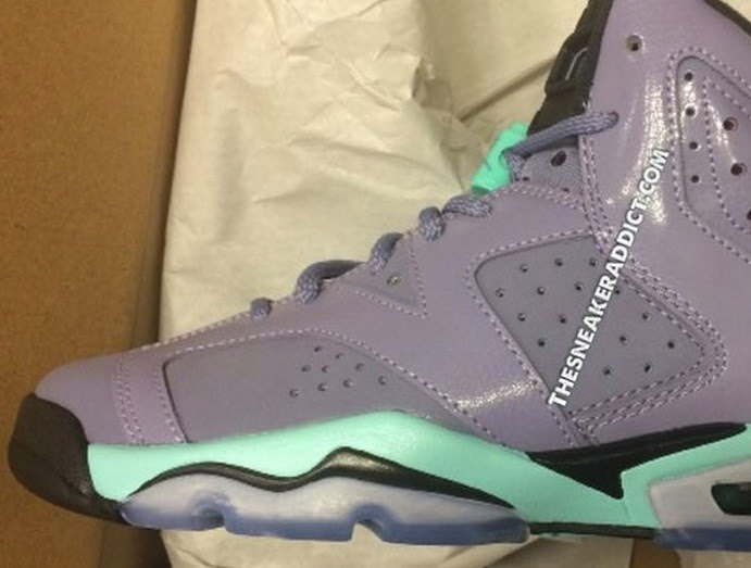93d27785b3e5 Air Jordan 6 Retro Iron Purple Bleached Turquoise-Black Sneaker (Detailed  Look + Release Date)