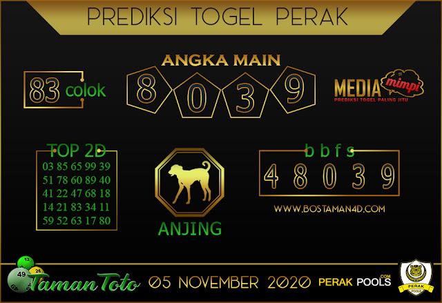 Prediksi Togel PERAK TAMAN TOTO 05 NOVEMBER 2020