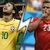 فشل البرازيل في تحقيق الفوز على سويسرا واكتفى بالتعادل 1-1