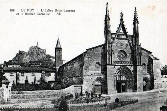 Le Puy, l eglise st Laurent et le rocher Corneille
